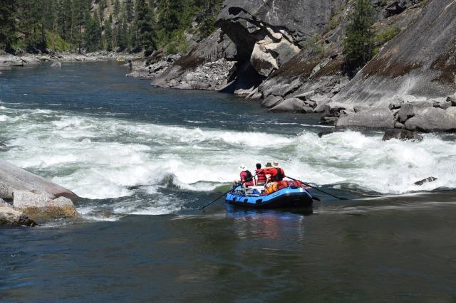 Howard entering Black Creek rapid